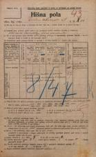 Popis prebivalstva 20. 12. 1921<br />Ljubljana<br />Dalmatinova ulica 10<br />Population census 20 December 1921
