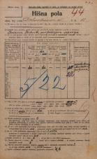 Popis prebivalstva 20. 12. 1921<br />Ljubljana<br />Dalmatinova ulica 11<br />Population census 20 December 1921