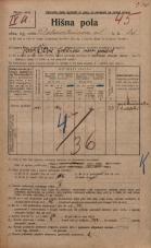 Popis prebivalstva 20. 12. 1921<br />Ljubljana<br />Dalmatinova ulica 15<br />Population census 20 December 1921