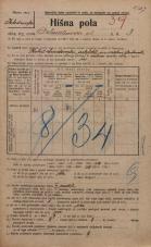 Popis prebivalstva 20. 12. 1921<br />Ljubljana<br />Dalmatinova ulica 3<br />Population census 20 December 1921