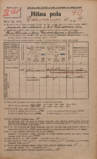 Popis prebivalstva 20. 12. 1921<br />Ljubljana<br />Dalmatinova ulica 4<br />Population census 20 December 1921