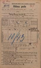 Popis prebivalstva 20. 12. 1921<br />Ljubljana<br />Dalmatinova ulica 5<br />Population census 20 December 1921