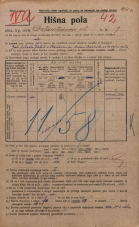 Popis prebivalstva 20. 12. 1921<br />Ljubljana<br />Dalmatinova ulica 7<br />Population census 20 December 1921