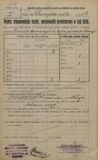 Popis prebivalstva 20. 12. 1921<br />Ljubljana<br />Dalmatinova ulica - Dunajska cesta 18<br />Population census 20 December 1921