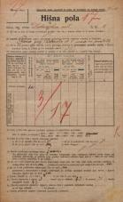 Popis prebivalstva 20. 12. 1921<br />Ljubljana<br />Delarnska ulica 8<br />Population census 20 December 1921