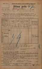Popis prebivalstva 20. 12. 1921<br />Ljubljana<br />Dolenjska cesta 1<br />Population census 20 December 1921