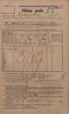 Popis prebivalstva 20. 12. 1921<br />Ljubljana<br />Dolenjska cesta 10<br />Population census 20 December 1921