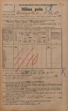 Popis prebivalstva 20. 12. 1921<br />Ljubljana<br />Dolenjska cesta 13<br />Population census 20 December 1921