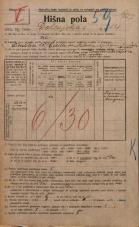 Popis prebivalstva 20. 12. 1921<br />Ljubljana<br />Dolenjska cesta 14<br />Population census 20 December 1921