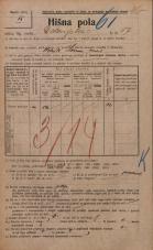 Popis prebivalstva 20. 12. 1921<br />Ljubljana<br />Dolenjska cesta 17<br />Population census 20 December 1921