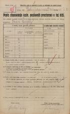 Popis prebivalstva 20. 12. 1921<br />Ljubljana<br />Dolenjska cesta - Orlova ulica 2<br />Population census 20 December 1921