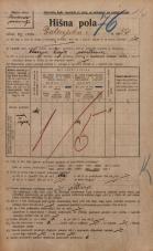 Popis prebivalstva 20. 12. 1921<br />Ljubljana<br />Dolenjska cesta 54<br />Population census 20 December 1921