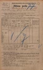 Popis prebivalstva 20. 12. 1921<br />Ljubljana<br />Dolenjska cesta 56<br />Population census 20 December 1921