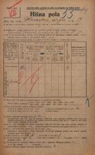 Popis prebivalstva 20. 12. 1921<br />Ljubljana<br />Dolinska steza 17<br />Population census 20 December 1921