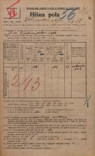 Popis prebivalstva 20. 12. 1921<br />Ljubljana<br />Dolinska steza 18<br />Population census 20 December 1921