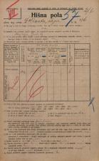 Popis prebivalstva 20. 12. 1921<br />Ljubljana<br />Dolinska steza 96<br />Population census 20 December 1921