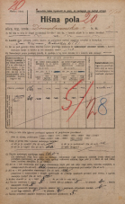 Popis prebivalstva 20. 12. 1921<br />Ljubljana<br />Domobranska cesta 5<br />Population census 20 December 1921