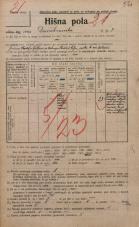 Popis prebivalstva 20. 12. 1921<br />Ljubljana<br />Domobranska cesta 7<br />Population census 20 December 1921