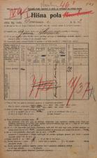Popis prebivalstva 20. 12. 1921<br />Ljubljana<br />Dovozna cesta 2<br />Population census 20 December 1921