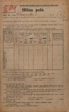 Popis prebivalstva 20. 12. 1921<br />Ljubljana<br />Dunajska cesta 1<br />Population census 20 December 1921