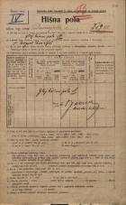 Popis prebivalstva 20. 12. 1921<br />Ljubljana<br />Dunajska cesta 7<br />Population census 20 December 1921