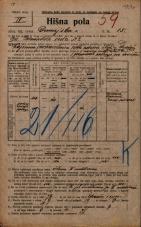 Popis prebivalstva 20. 12. 1921<br />Ljubljana<br />Dunajska cesta 15<br />Population census 20 December 1921