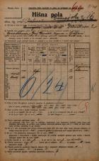 Popis prebivalstva 20. 12. 1921<br />Ljubljana<br />Dunajska cesta 16<br />Population census 20 December 1921