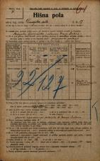 Popis prebivalstva 20. 12. 1921<br />Ljubljana<br />Dunajska cesta 17<br />Population census 20 December 1921