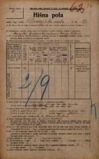 Popis prebivalstva 20. 12. 1921<br />Ljubljana<br />Dunajska cesta 19<br />Population census 20 December 1921