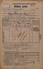 Popis prebivalstva 20. 12. 1921<br />Ljubljana<br />Dunajska cesta 23<br />Population census 20 December 1921
