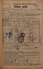 Popis prebivalstva 20. 12. 1921<br />Ljubljana<br />Dunajska cesta 25a<br />Population census 20 December 1921