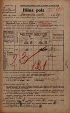 Popis prebivalstva 20. 12. 1921<br />Ljubljana<br />Dunajska cesta 29<br />Population census 20 December 1921