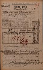 Popis prebivalstva 20. 12. 1921<br />Ljubljana<br />Dunajska cesta 31<br />Population census 20 December 1921