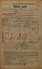 Popis prebivalstva 20. 12. 1921<br />Ljubljana<br />Dunajska cesta 33<br />Population census 20 December 1921