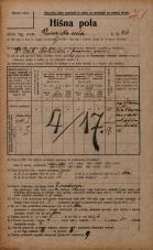 Popis prebivalstva 20. 12. 1921<br />Ljubljana<br />Dunajska cesta 36<br />Population census 20 December 1921