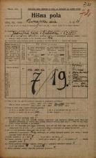 Popis prebivalstva 20. 12. 1921<br />Ljubljana<br />Dunajska cesta 38<br />Population census 20 December 1921