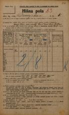 Popis prebivalstva 20. 12. 1921<br />Ljubljana<br />Dunajska cesta 61<br />Population census 20 December 1921