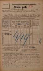Popis prebivalstva 20. 12. 1921<br />Ljubljana<br />Dunajska cesta 63<br />Population census 20 December 1921
