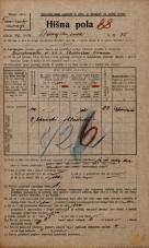 Popis prebivalstva 20. 12. 1921<br />Ljubljana<br />Dunajska cesta 75<br />Population census 20 December 1921