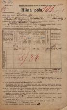 Popis prebivalstva 20. 12. 1921<br />Ljubljana<br />Dvorni trg 1<br />Population census 20 December 1921