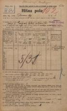 Popis prebivalstva 20. 12. 1921<br />Ljubljana<br />Dvorni trg 3<br />Population census 20 December 1921