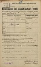 Popis prebivalstva 20. 12. 1921<br />Ljubljana<br />Dvorni trg NN1<br />Population census 20 December 1921