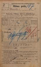 Popis prebivalstva 20. 12. 1921<br />Ljubljana<br />Emonska cesta 10<br />Population census 20 December 1921