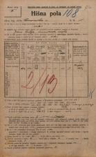 Popis prebivalstva 20. 12. 1921<br />Ljubljana<br />Emonska cesta 11<br />Population census 20 December 1921