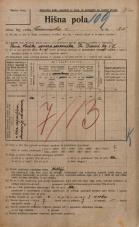 Popis prebivalstva 20. 12. 1921<br />Ljubljana<br />Emonska cesta 25<br />Population census 20 December 1921