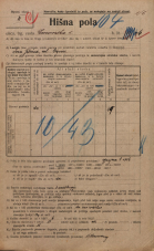 Popis prebivalstva 20. 12. 1921<br />Ljubljana<br />Emonska cesta 4<br />Population census 20 December 1921