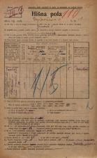 Popis prebivalstva 20. 12. 1921<br />Ljubljana<br />Erjavčeva cesta 1<br />Population census 20 December 1921