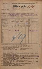 Popis prebivalstva 20. 12. 1921<br />Ljubljana<br />Erjavčeva cesta 12<br />Population census 20 December 1921