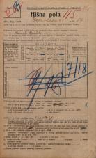 Popis prebivalstva 20. 12. 1921<br />Ljubljana<br />Erjavčeva cesta 14<br />Population census 20 December 1921