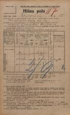 Popis prebivalstva 20. 12. 1921<br />Ljubljana<br />Erjavčeva cesta 18<br />Population census 20 December 1921